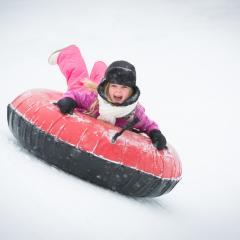 Kid Snow Tubing