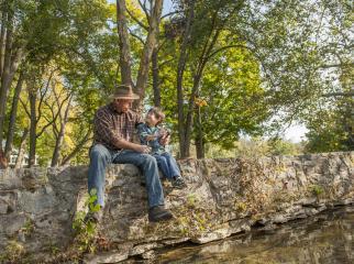 Fishing at Children's Lake