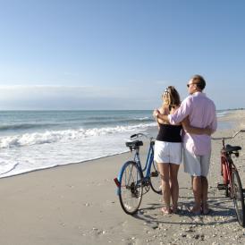 Couple with Bikes on Don Pedro Island