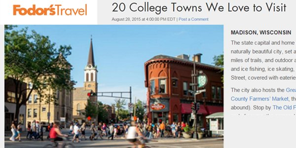 20 College Towns We Love to Visit