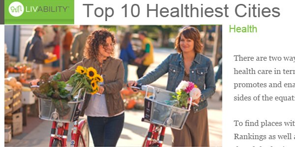 Top 10 Healthiest Cities