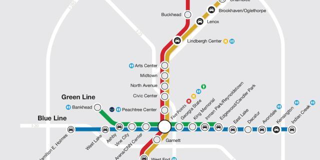 MARTA Rail Map