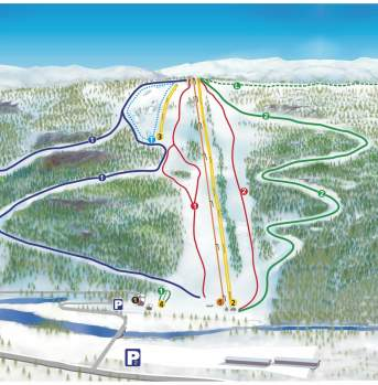 Piste map Brokke Alpine Center