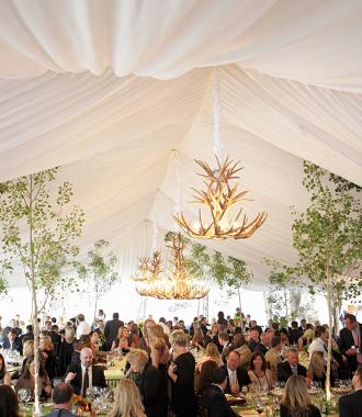 Dinner event under tent at Montage
