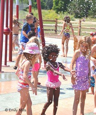 Kids in the Splash Park