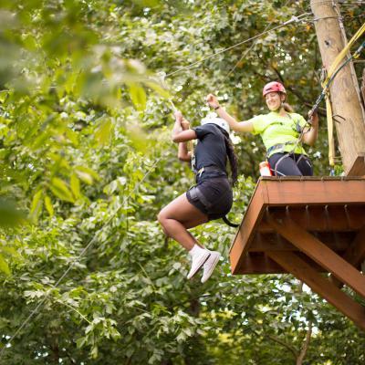 Ziplining at Terrapin Adventures