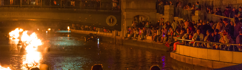 WaterFire crowd