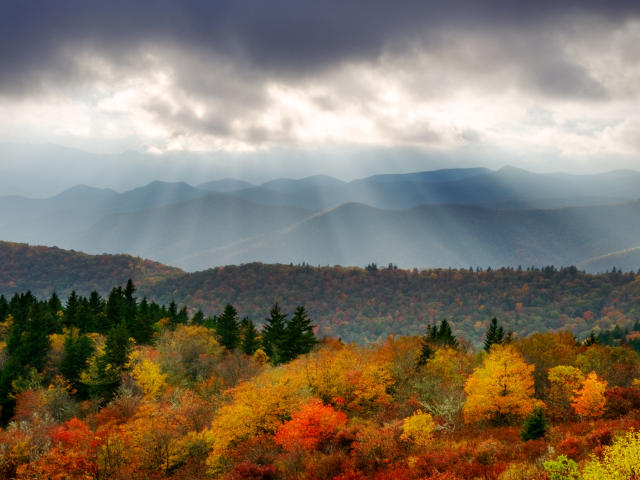 Colorful Fall Mountains