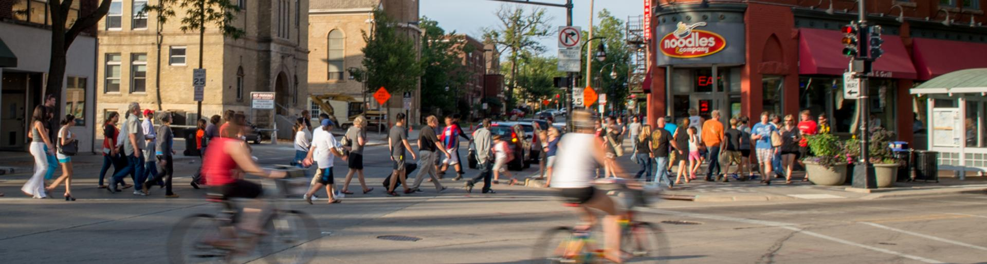Busy State Street in the Summer