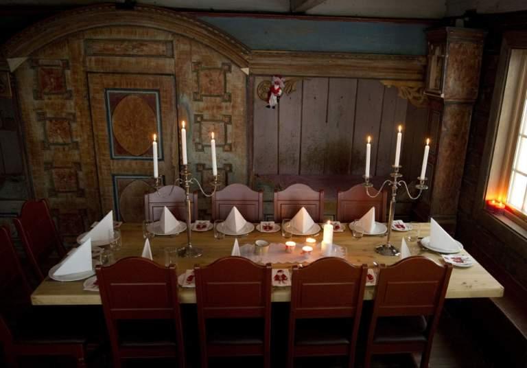Christmas table in Setesdal