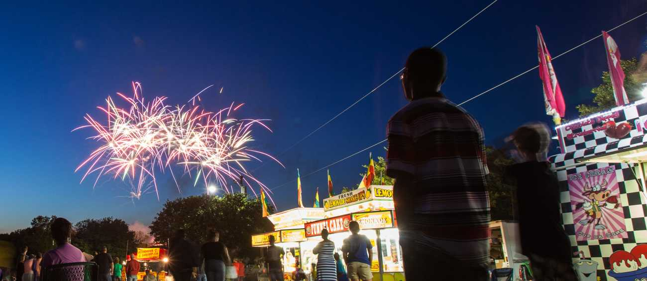 A photo of Christmas on Caddo Fireworks Festival