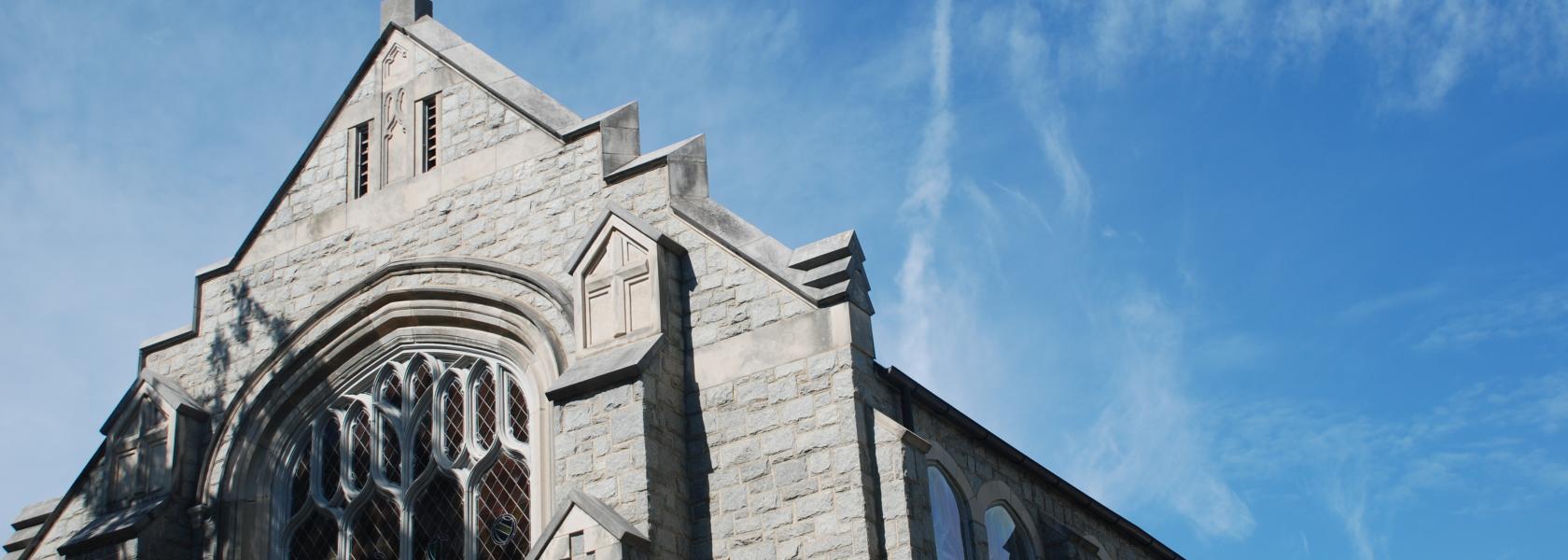 Grey Stone Church Steeple