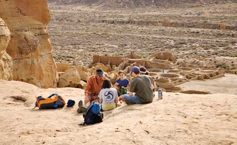 Chaco Culture National Historical Park Northwestern NM Pueblo Bonito Overlook MANN 5817