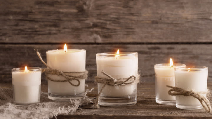 Citronella candles don't have to be an eye sore! Picture:Shutterstock.