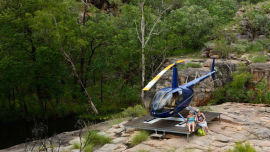 Kathleen and her sister lap up the luxury in the Northern Territory.