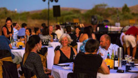 Karijini National Park offers a spectacular setting for a gourmet degustation.