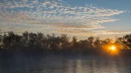 Sunrise over Dalhousie hot spring.