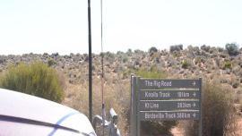 Heading into the Simpson Desert.