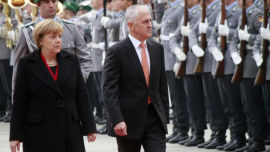 PM Malcolm Turnbull attends another military show of strength.