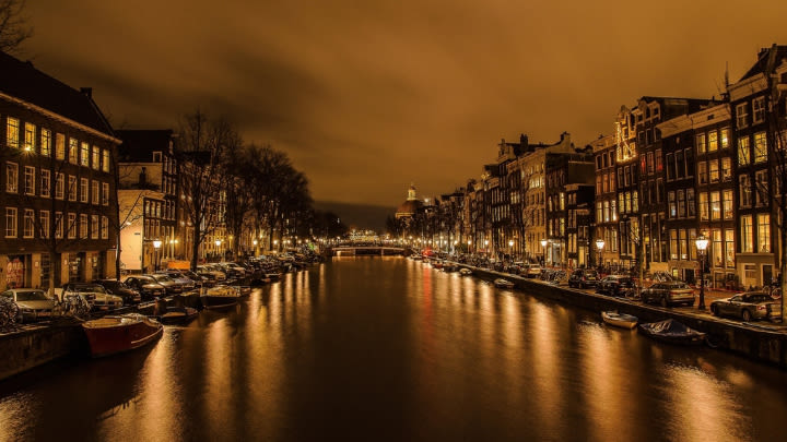 Amsterdam (Image uploaded to Reddit by u/kkwheeler1).