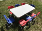 Kids Rectangle Table and Chair Rentals