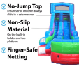 15ft Retro Slide Side Front View Features of the Water Slide