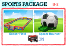 Soccer Football Bounce House Event Rental Package