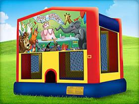 animal themed bounce house