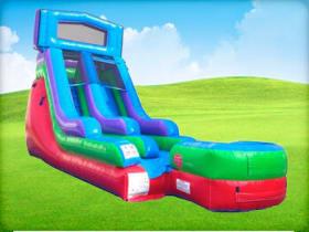 15ft Tall Retro Rainbow Modular Wet / Dry Slide Rentals