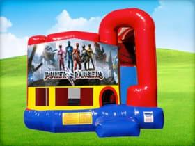 4in1 Power Rangers Bounce House w/ Wet or Dry Slide