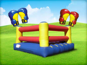 Inflatable Boxing Ring Rental with Gloves