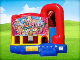 4in1 Shopkins Bounce House w/ Wet or Dry Slide