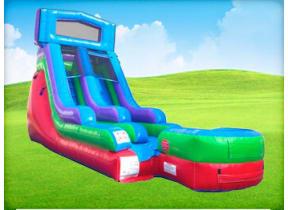 15ft Retro Rainbow Modular Wet / Dry Slide