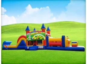 50ft Easter Obstacle w/ Wet or Dry Slide