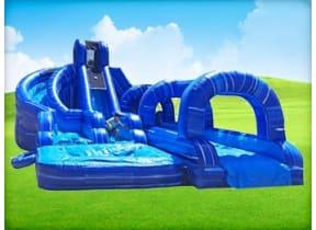 Triple Ocean Helix Dual Lane Slide w/ Slip N Slide