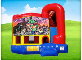 4in1 Minecraft Bounce House w/ Wet or Dry Slide