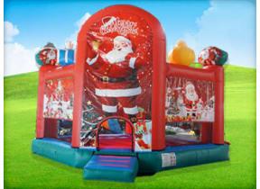 Merry Christmas Santa Bounce House