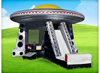 inflatable ufo moonwalk and slide