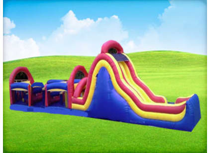 Rockwall Slide Obstacle Course