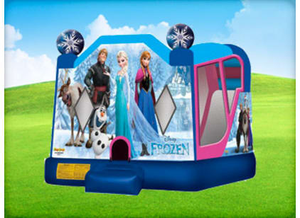Frozen bounce house with slide