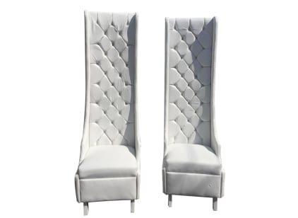 His & Her Tall Chairs - Pair