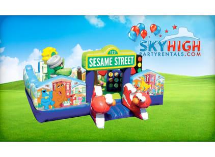 Sesame Street Toddler Bounce House