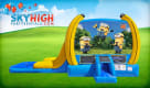Despicable Me Minion Moonwalk with Wet Water Slide