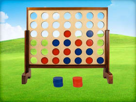 Wooden Connect Four Game Party Rentals