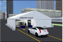 40' x 50' Delivery Drive Through Tent