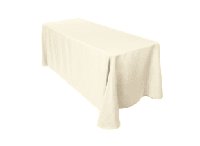 6ft table with ivory cover