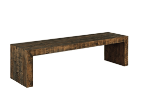 Wooden bench for 3