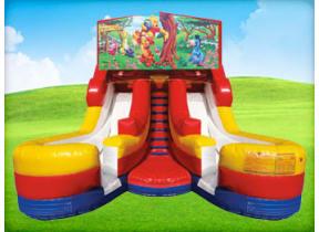 16ft Winnie the Pooh Water (Dry/Wet) Slide