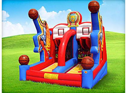 basketball bounce house game rental