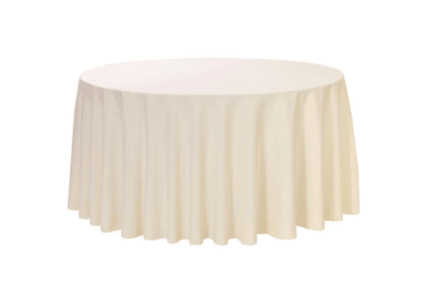 72'' Round table - Ivory cover